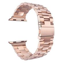 Роскошные Нержавеющаясталь ремешок для apple watch, ремешок 42 мм, 38 мм,/44 мм/40 браслет, ремешок для наручных часов iWatch, 4/3/2/1 металлический ремешок ...(Китай)