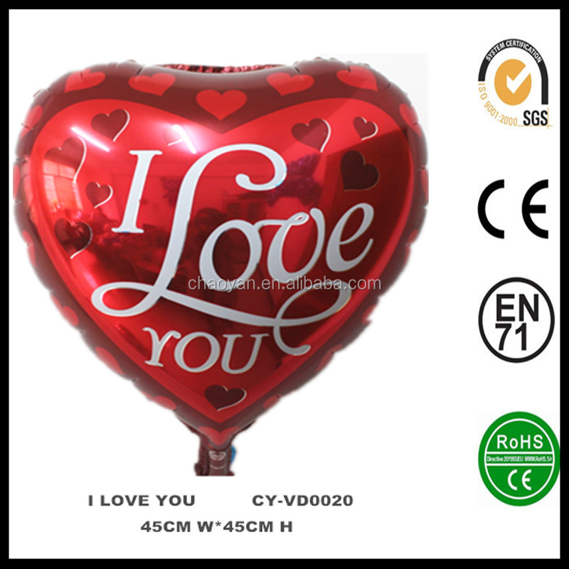 Valentines Day Party Decoration Helium Balloon,Wedding Kiss Foil Balloon,Heart Foil Balloon