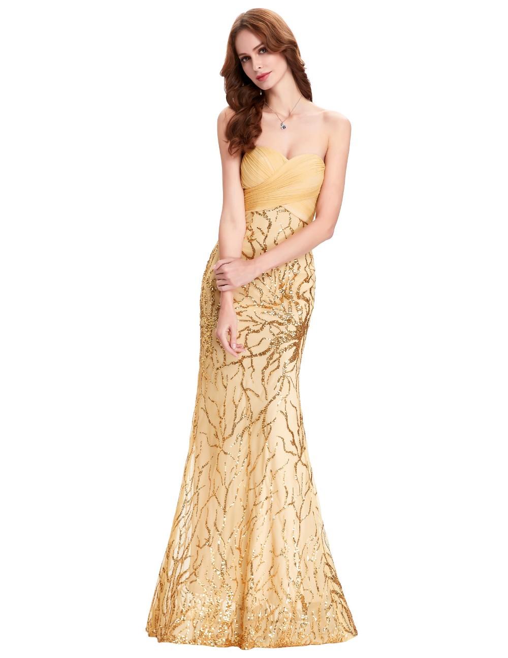 Starzz Strapless Sweetheart Cheap Sequins Evening Gown Vestido De ...