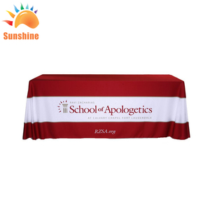 Top Quality Exhibition Full Color 8ft Rectangular Table Cloth For Event advertising