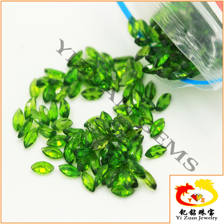 Chinese top quality Marquise cut chrome diopside gemstones