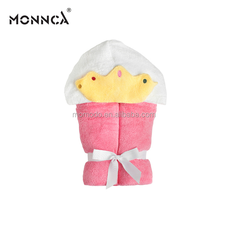 2018 wholesale ice cream baby towel with hood