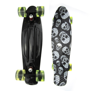 Hot Selling 22 Inch Skateboard Cruiser Board PU Four-Wheel Street Banana Long Skate Board Mini Skate Board