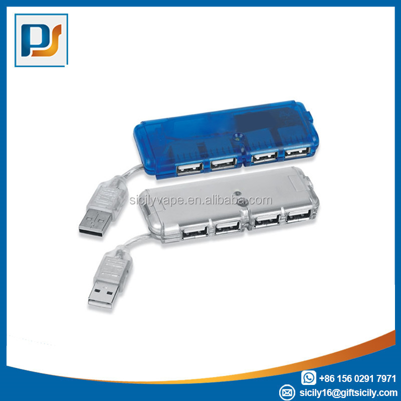 Promotion gift Transparent super slim 4 port USB HUB