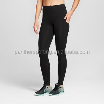 c9ba546e802b5 Women Embrace High Waist Shiny Black Leggings Girls Wearing Yoga Pants
