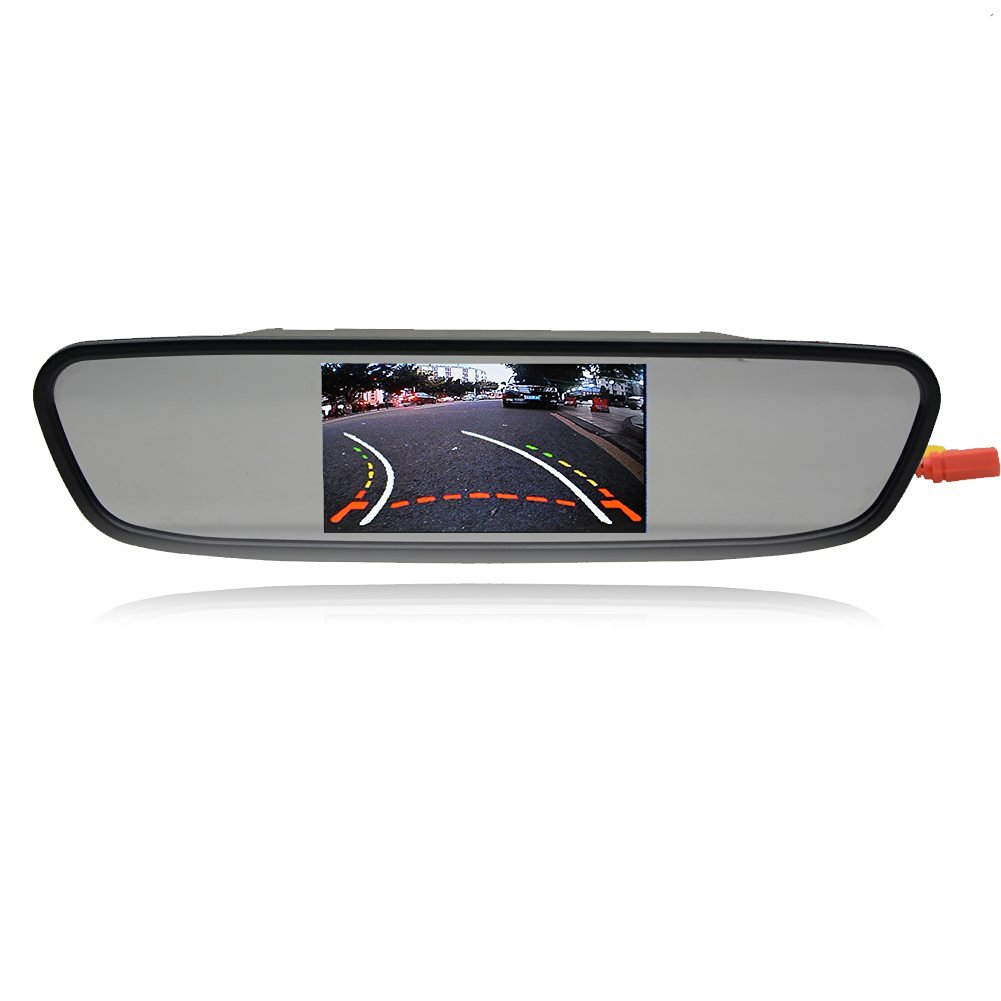 Eincar auto rearview mirror with 4.3-inch 480272 RGB high resolution LCD TFT digital color Display screen Monitor For Car CD DVD VCD reverse view camera Car Mirror Monitor