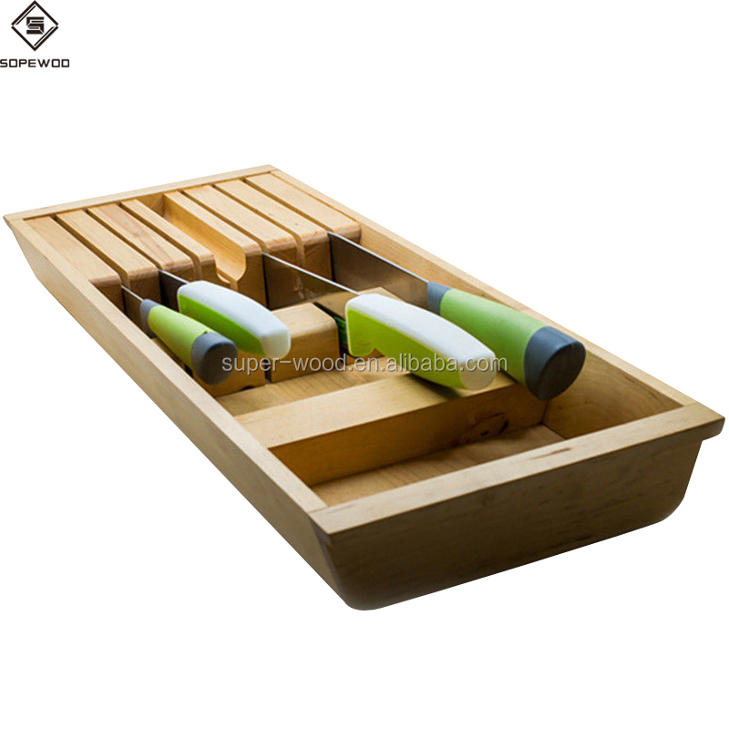 Hot sale bamboo wooden knife rack,superior knife stand