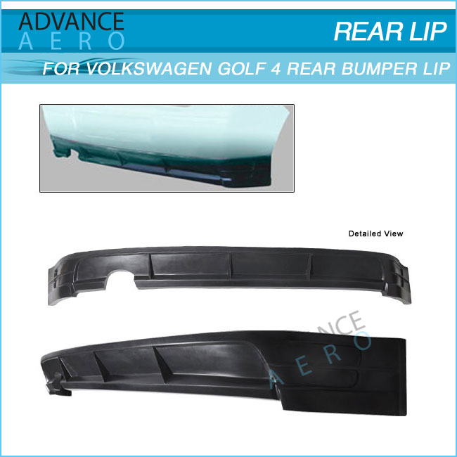FOR 99-04 VOLKSWAGEN VW GOLF MK4 PU DS REAR BUMPER LIP SPOILER BODY KITS