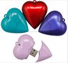 Heart shape U-disk plastic pendrive with real capacity
