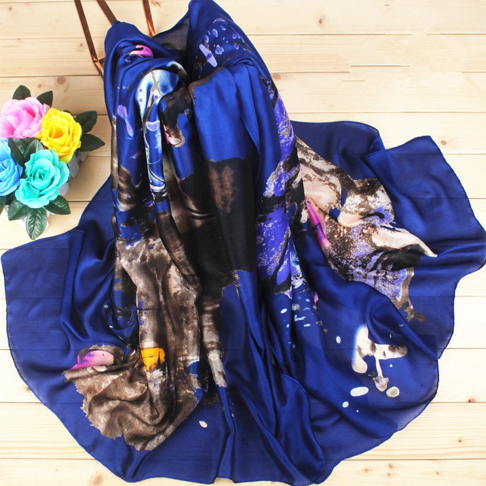 your own design print chiffon silk scarf wholesale