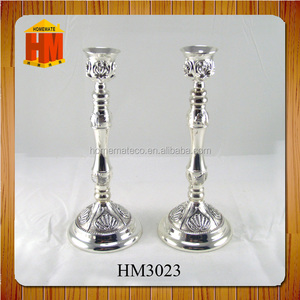 silver plated candle holder 3 dishes in gift box packing for table decoration
