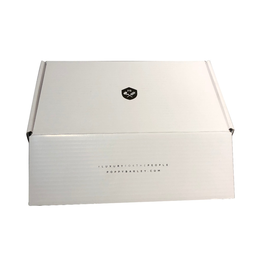 Wholesale stable white glossy corrugated shipping box