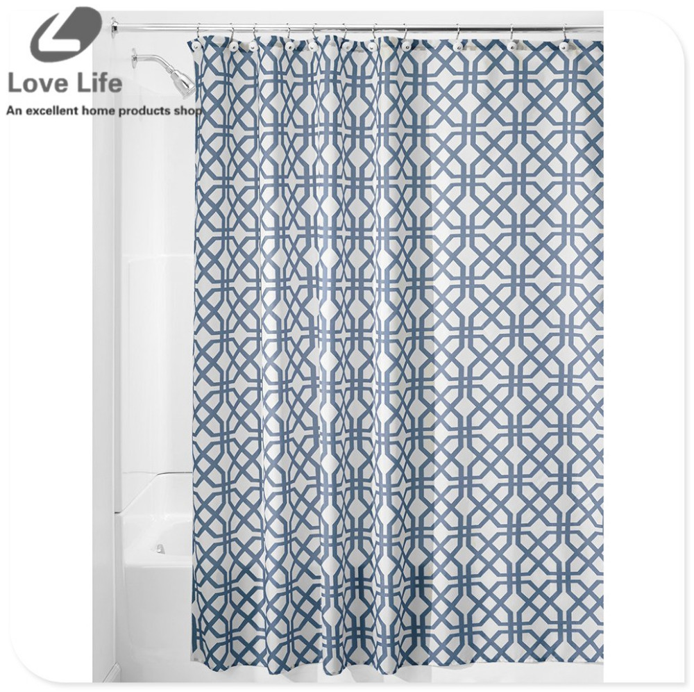 Elegant Bathroom Curtain Sets: High Quality Modern Elegant Curtain Waterproof Bath