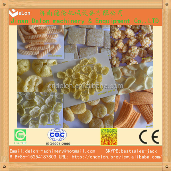Automatic Core Filling Corn Bar Snacks Food Making Machines