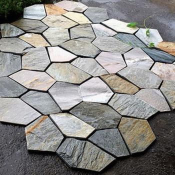 Cheap Natural Irregular Shape Beige Slate Flagstone Pavers Buy Natural Stone Pavers Beige Slate Irregular Flagstone Product On Alibaba Com