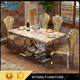 Restaurant furniture marble dining set india wedding table with best quality CT006