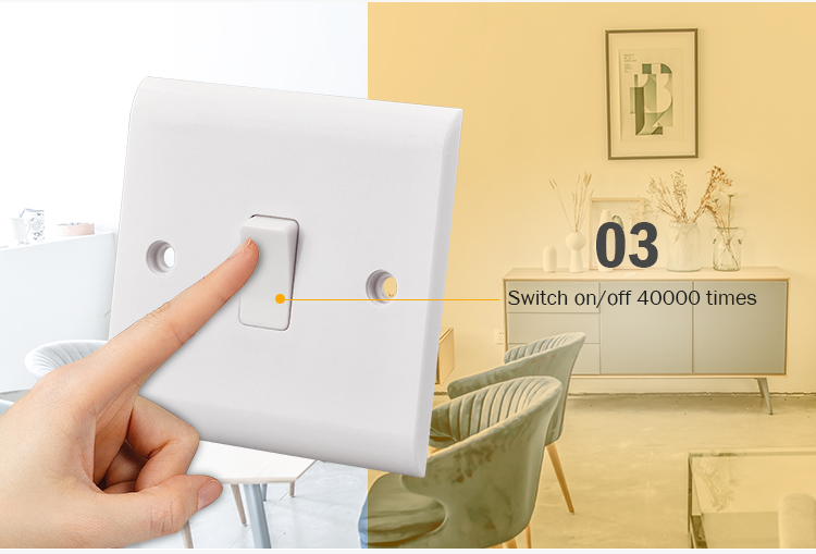 Wall electric power 3 pin universal switch socket outlet