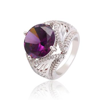 bague or amethyste et diamant