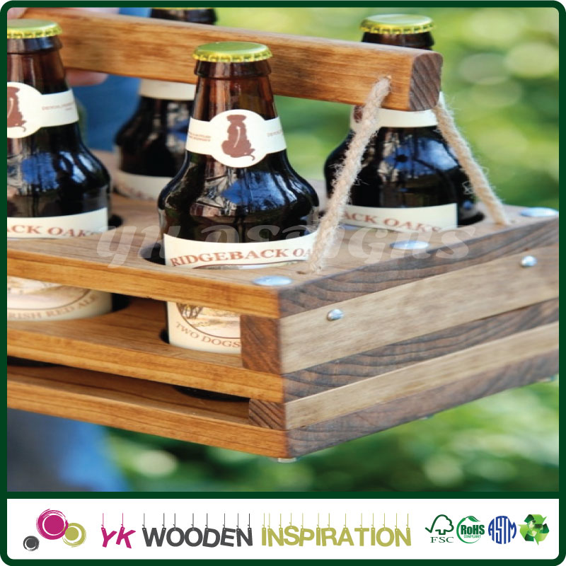 Wooden beer rack in Recyclable Metal Tin Box