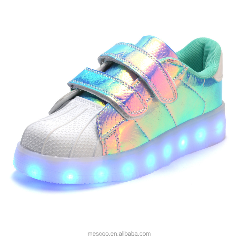 2016 Children Shell Toe USB Charging Shoes, Kids Led Light Luminous Seakers ,Boys And Girls Fashion Entertaining Casual Shoes
