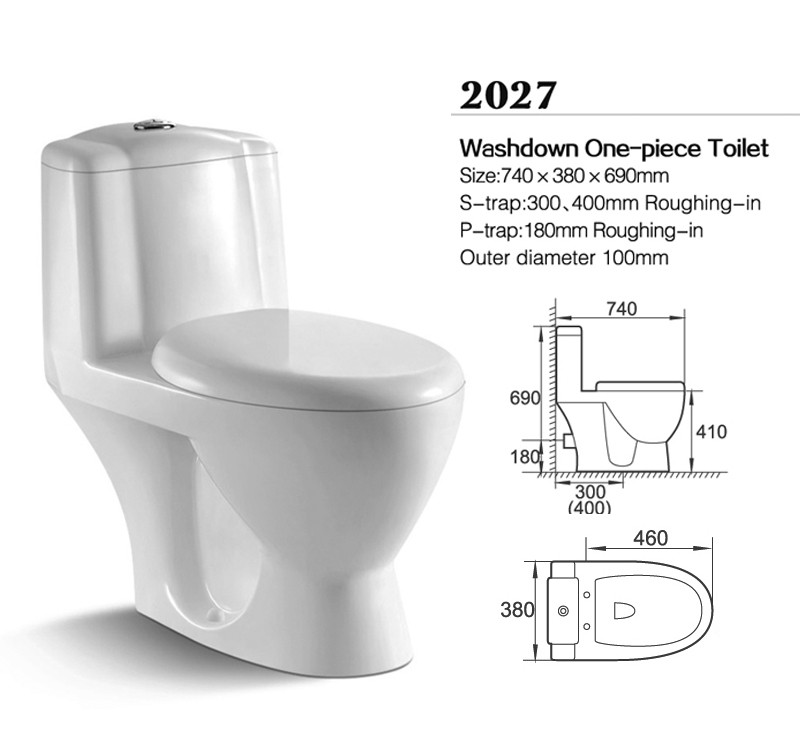 red one piece toilet bowl parts with built in bidet for