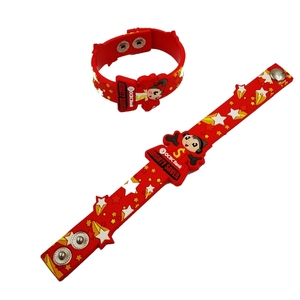 custom party favors 3D soft pvc snap wristband for kids