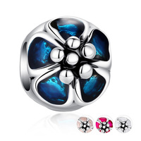 Taidian brand diy multicolor flower beads for jewellery making cheap wholesale beads silver bead