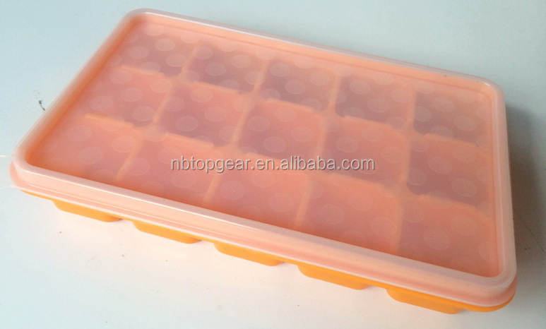 15 Silicone Ice Cube Tray With Lid Freezer Ice Tray Buy Silicone