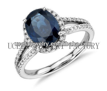 Marvelous Wedding Ring Insurance Mens Oval Blue Sapphire And Diamond Split Shank Ring