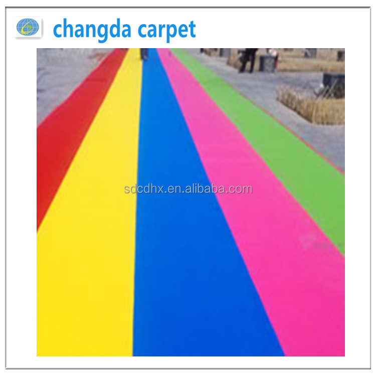 Exhibition carpet with 100%polyester event floor wedding aisle runner