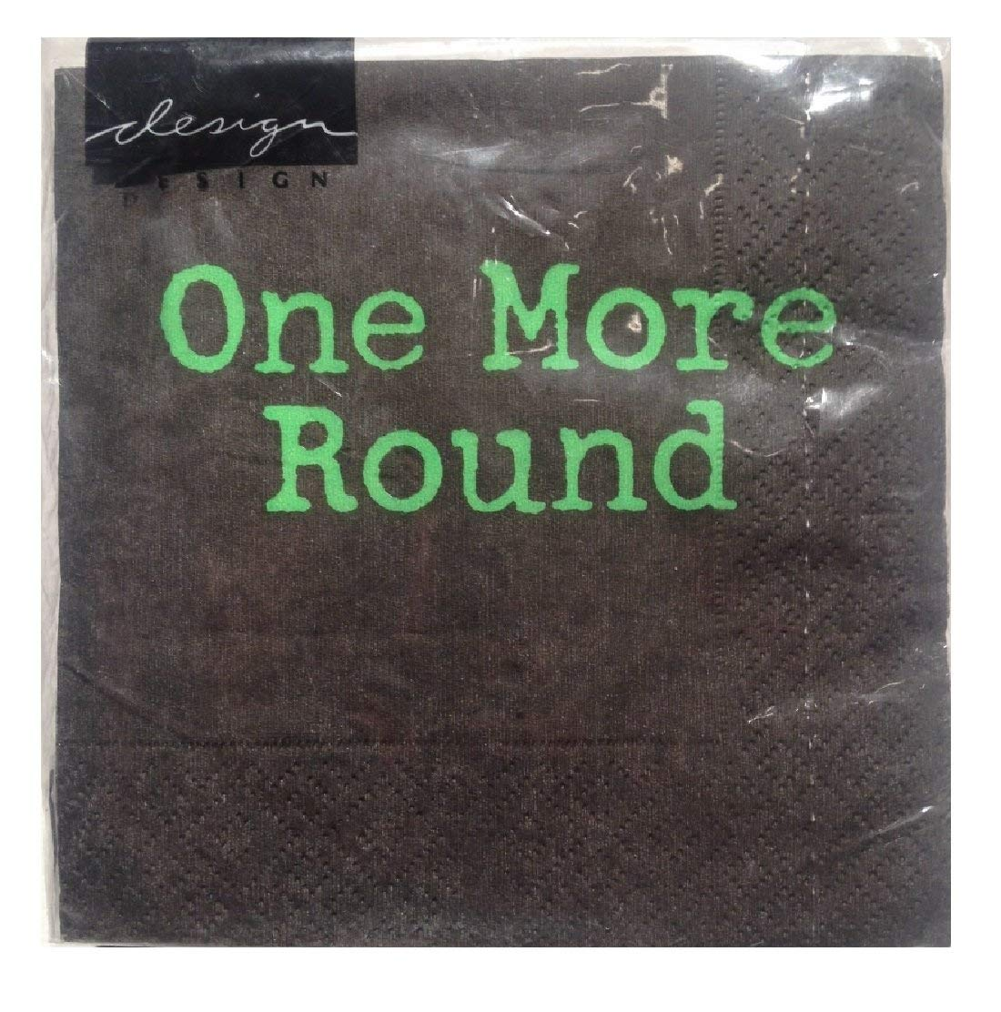 Design Design One More Round Cocktail Napkins