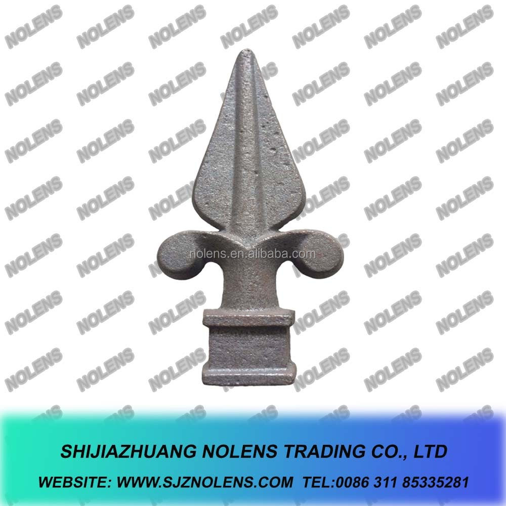 Wrought Iron Spear, Cast Iron Spears,Ornametal wrought Iron Rail Heads