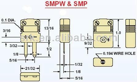 Blue Omega Mini Thermocouple Connector T Type - Buy Thermocouple Connector on
