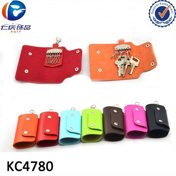 Manufacturers wholesale fashion PU leather purse car key package keyring