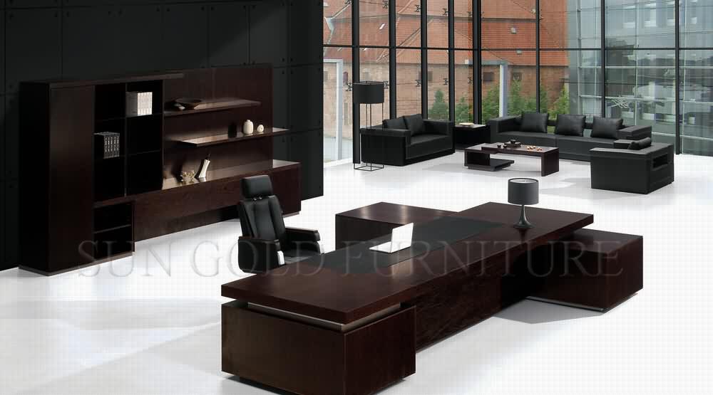 High End Luxury Office Black Manager Desk (SZ OD159)