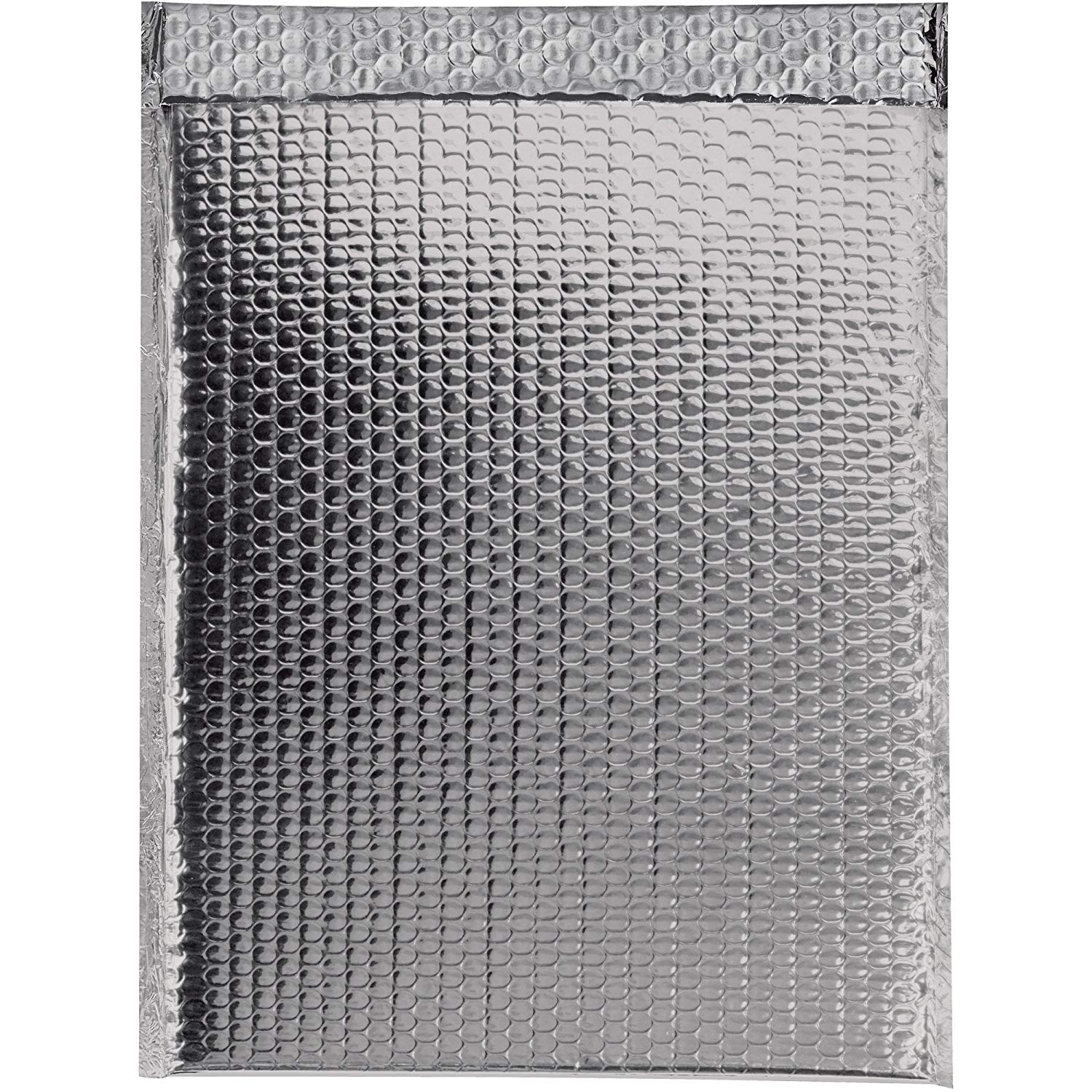 "Boxes Fast BFGBM1317S Glamour Bubble Mailers, 13"" x 17 1/2"", Silver (Pack of 100)"