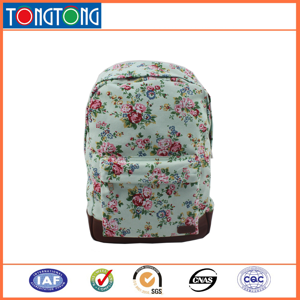 School Popular Custom Wholesale Manufacturer Cotton Print Canva Backpack