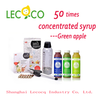 50 Times HIGH Concentrated Green Apple Juice Beverage Syrup Raw Material Ingredients