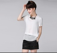 Latest women's blouses fashion lace blouse and skirt