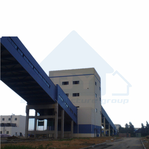 Steel Trestle Structure with Cladding for Coal Conveyor Belt