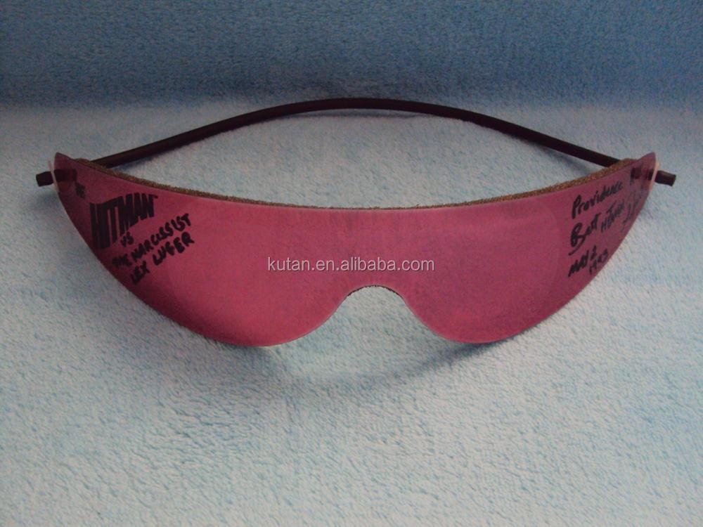 113eebcb50380 Soft Plastic Silver Bret Hitman Hart Wrap Around Shades Sunglasses ...