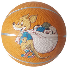 Animals design Rubber basketball ball from size 1-size 7
