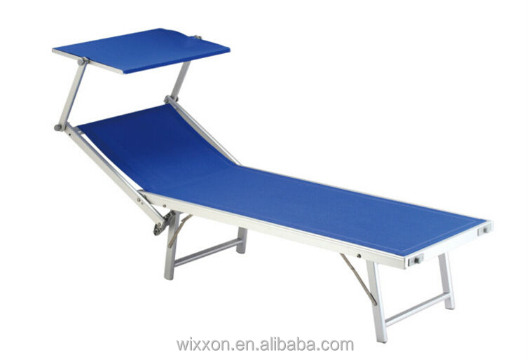 Folding Canopy Beach Lounge With Wheels Portable Beach