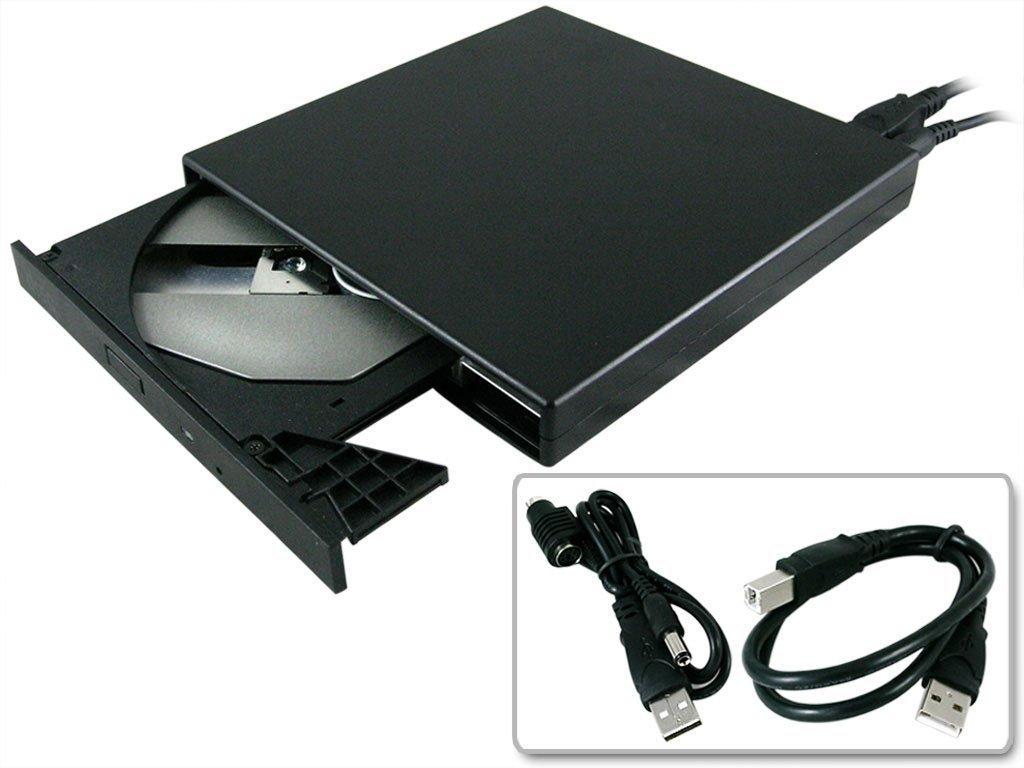 Haiker New 24X External USB Slim CD-ROM Drive For Dell laptop