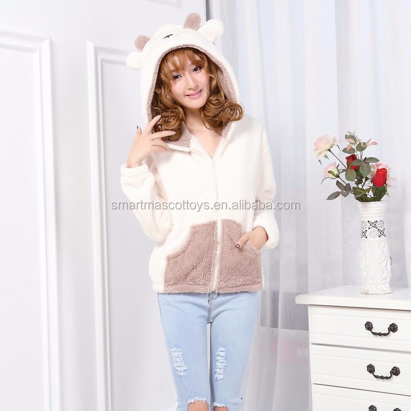 wholesale hoodies velvet sheep animal hoodie with ears