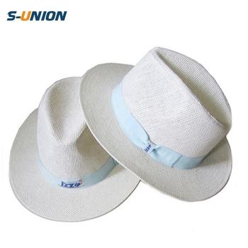 cf7ce09cc9587 Promotional Custom Logo White Flat Broad Brim Mens Borsalino Panama Paper  Straw Hat - Buy Borsalino Hat,Borsalino Paper Straw Hat,Broad Brim Hat ...