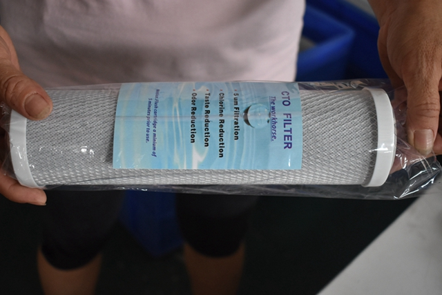 cheap 10 inch activated carbon CTO water filter cartridge