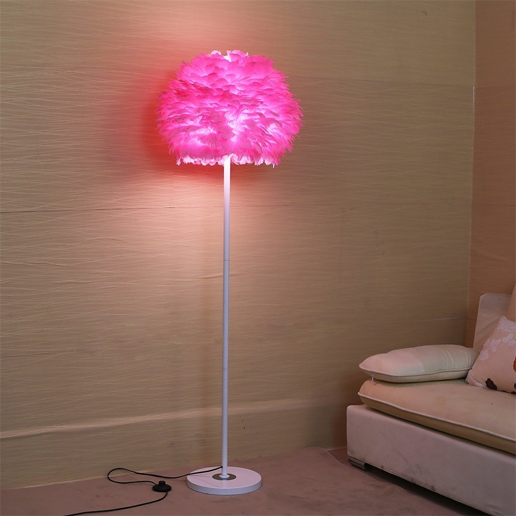 Lamp For Nursery Pink /& Yellow Table Lamp Rosettes Feathers Lace Whimsical Lamp Princess Room Baby Shower Gift Sparkly Tulle Decor