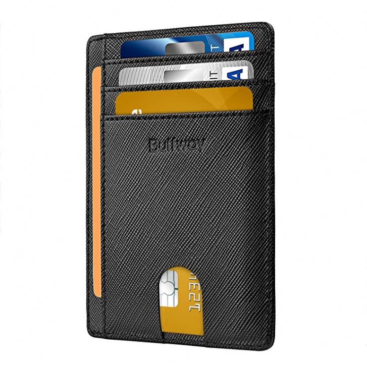 TIANHOU MOWT-060 bag card pouch travel wallet Slim Minimalist Front Pocket RFID Blocking Leather Wallets for <strong>Men</strong>