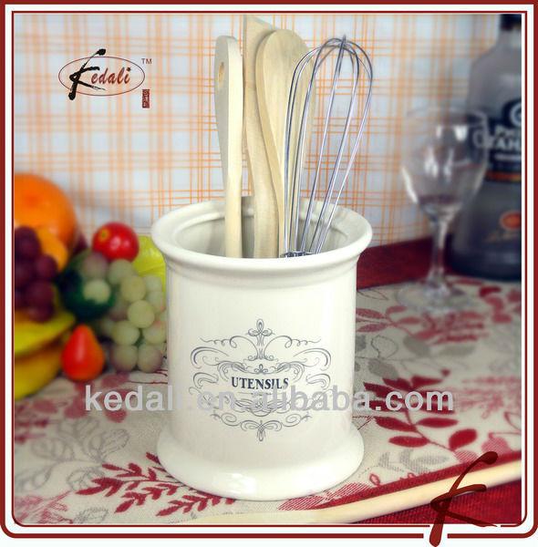 Stile Francese Di Ceramica Utensili Da Cucina Titolare-Conservazione E Scadenza-Id Prodotto